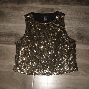 Tank top gold sequins
