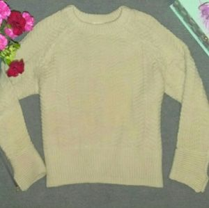 H&M Ivory Knitted Sweater
