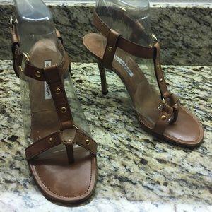 Manolo Blahnik T-Strap Sandal Heels