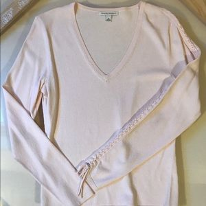 Banana Republic pink v-neck sweater