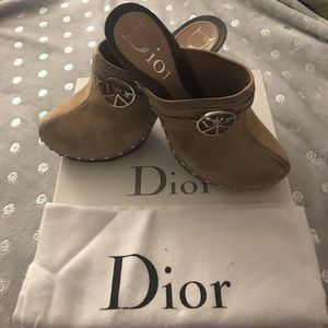 Dior peace and love clogs sz 37 US 7