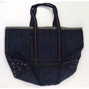 🍁J.Crew Large Denim Tote Bag 🍁