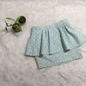 ASOS Textured Mint Grey Skirt