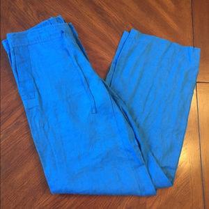 Lauren Ralph Lauren Blue Linen Pants