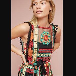 Anthropologie Saskia embroidered dress