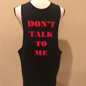 Funny Men's Work Out Gym Tank Sideless Slinger NWT