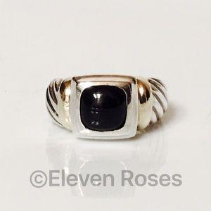 David Yurman Sterling 14k Black Onyx Noblesse Ring