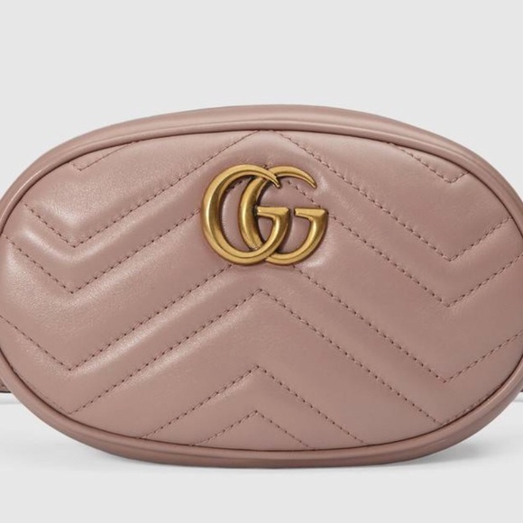 3a952e67d4a Gucci Marmont Leather Belt Bag