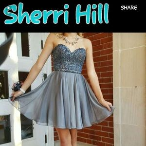 Sherri Hill Beaded Sweetheart Formal Dress