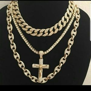 14K GOLD PLATED ICED OUT QUAVO CHAINS STYLE