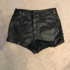H&M faux leather short size 8