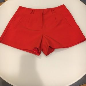 Forever 21 red dress shorts