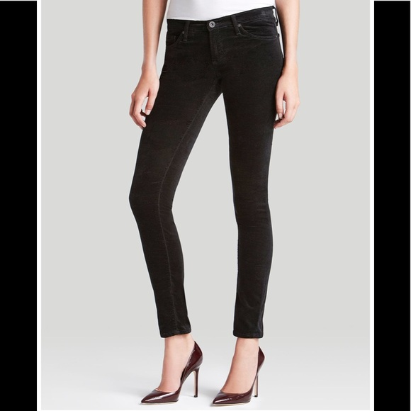 5d5a620718235 Ag Adriano Goldschmied Denim - AG Super Skinny Velvet Legging Jeans Super  Black