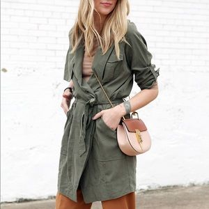 FINAL PRICE | BR Army Green Trench Dress