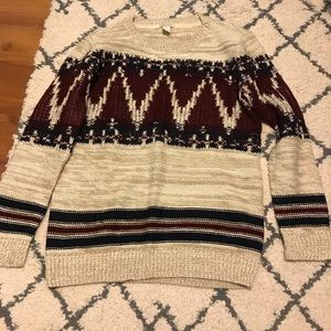 Chunky Abstract Sweater