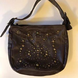 LuLu brown studded hobo bag