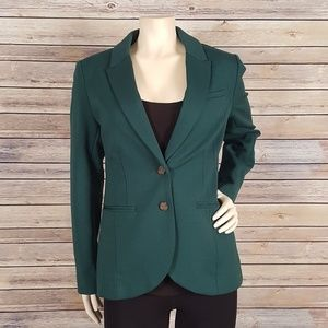 H&M Hunter Green Fitted Career Blazer Size 8