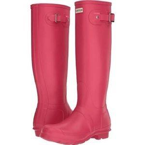Hunter Rainboots--Tall Hot Pink