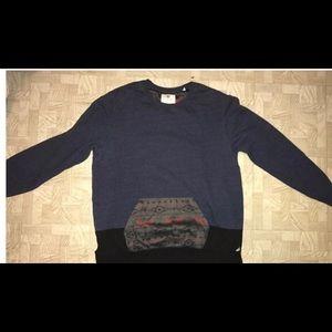 Navy blue and black sweatshirt