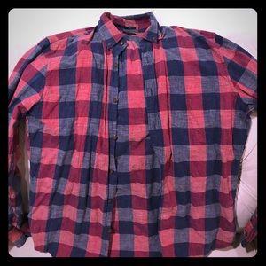 Jcrew Slim plaid homespun shirt large