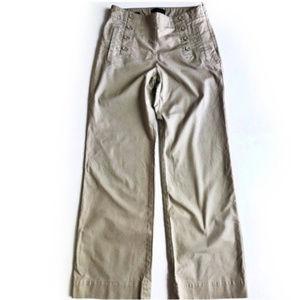 Talbots Heritage Khaki Sailor Pants size 6