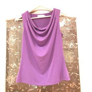 Calvin Klein Purple Top with Drape Front Sz.S