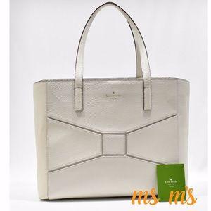 NWT Kate Spade Cream White Leather TOTE