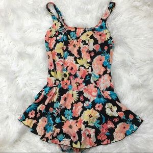 Other - Floral one piece skirted swimsuit sz 16