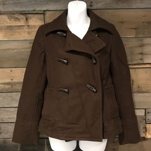Old Navy brown pea coat. Size small