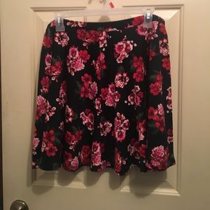 Floral/Rose pattern skater skirt