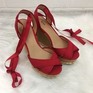 Just Fab Ribbon Tie Wedges
