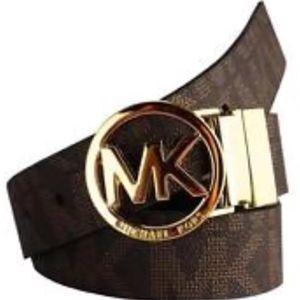 Brand New Michael Kors MK Signature Womens Belt