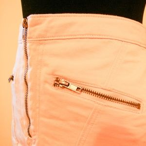 H&M Pink Denim Mini Skirt