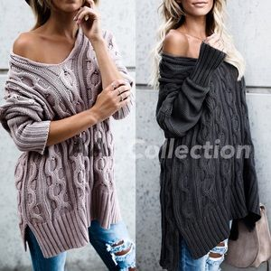 oversized loose fit sweater slouchy sexy comfy