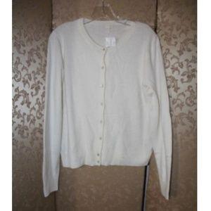J. Crew NWT Ivory Cardigan Sweater XL