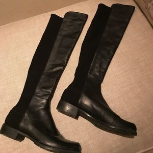 Stuart Weitzman boots soft leather and fabric