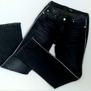 Rhinestone Side Bling Designer Jeans NWOT