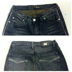 Mesmerize Jeans - Rhinestone Side Bling Designer Jeans NWOT
