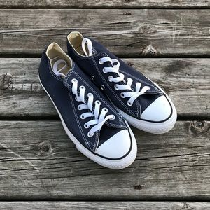 New Navy Blue Low Top Converse