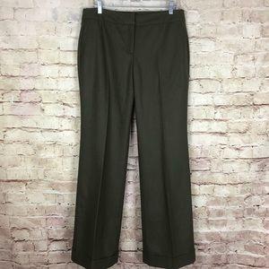 J Crew Green Favorite Fit Wide Leg Pants Size 10