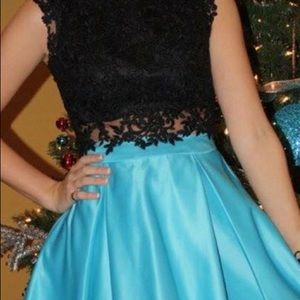 short above knee length homecoming dress
