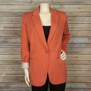 Forever 21 Burnt Orange Career Blazer Size Medium