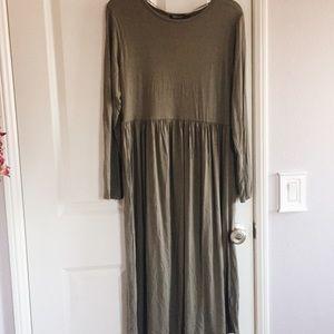 Midi long sleeve dress