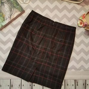 Talbot wool checked mini pencil skirt