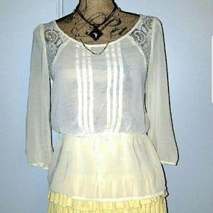 Vintage Sheer Lace Blouse