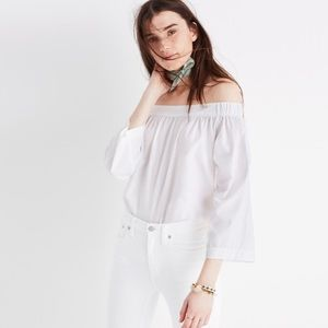 New Madewell bell sleeve off the shoulder top