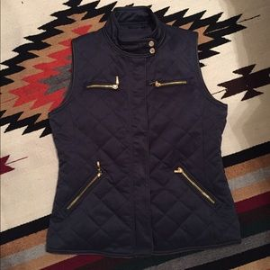Pendleton Navy Quilted Vest