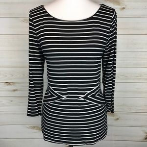 WHBM Black and White Top