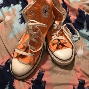 Unisex Peachy Orange High Top Converse