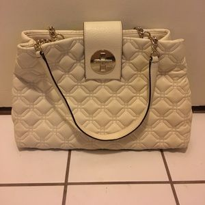 ♠️Cream quilted Kate Spade bag♠️